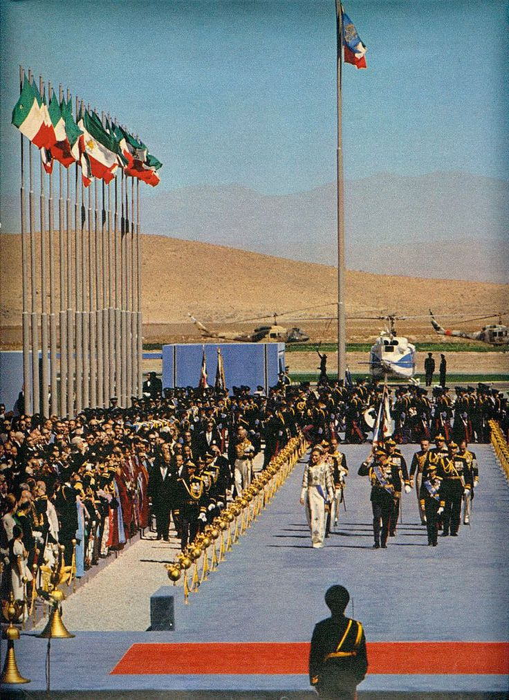 https://flic.kr/p/aw8YCX | Persepolis 1971 | 12th October 1971 was the first day of ceremony as His Imperial Majesty, Aryamer, King of Kings Mohammad Reza Pahlavi with Her Imperial Majesty, Empress Farah Pahlavi, paid homage to King of Kings Cyrus the Great's mausoleum at Pasarguard.  For next two days dignitaries and heads of state of other nations began to arrive at Shiraz's airport and were greeted with honour and respect by His Imperial Majesty, King of King Mohammad Reza Pahlavi or Her…