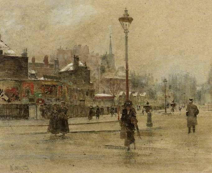 'London in Winter' by William Walcot, 1909