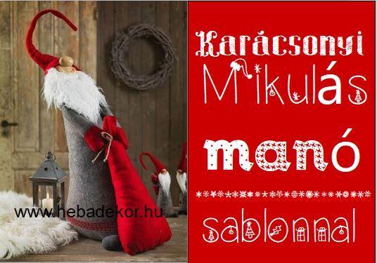 Karácsonyi mikulás manó