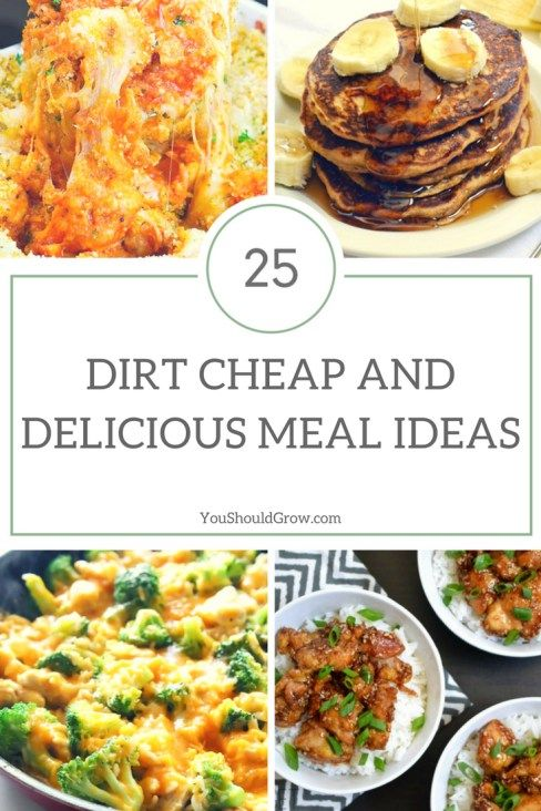 Eat well on a budget. Try these tips for getting the most out of your family meals and 25 dirt cheap and delicious meal ideas.