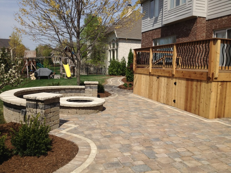 Pavers make a great addition to any outdoor space! (Carmel, IN residence; installed by Brick Paving of Indianapolis)
