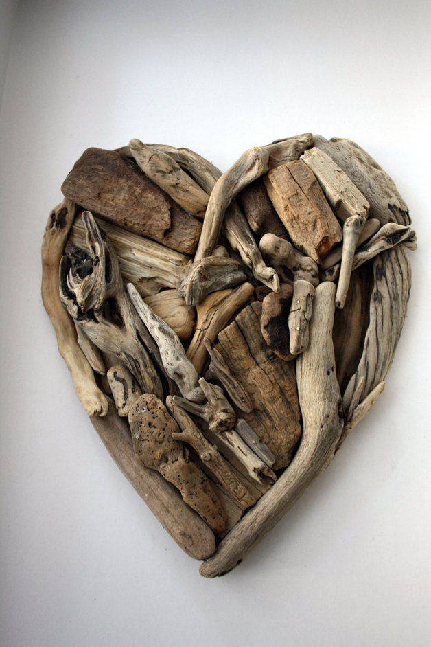 Wall Art – Driftwood heart – a unique product by yalos-alanya on DaWanda