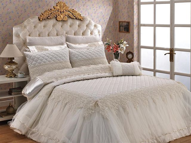 Heaven Fransız Güpürlü Yatak Örtüsü: #bedcover #bedspread #yatakörtüsü #wedding #çeyiz #home #household #gift #textile #madeinturkey #luxury
