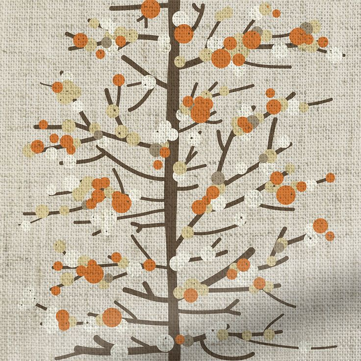 Berry Blossom Linen Orange Roman Blind
