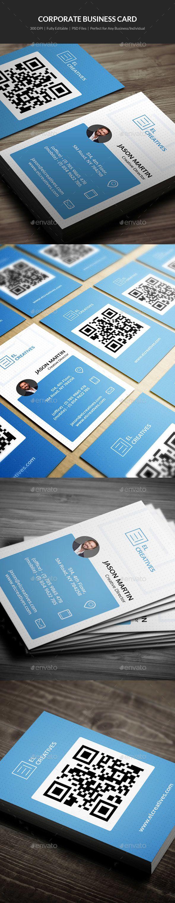 Corporate Business Card 04 Corporate Business Card Business Cards Business Card Template Psd