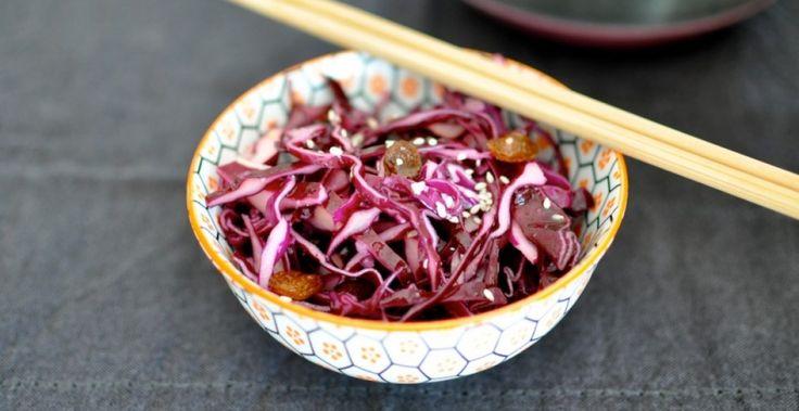 Les Batoilles » Salade de chou rouge japonisée