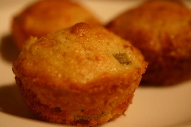 Jalapeno Cornbread - can make in a pie plate.  I do not use cheese.  I use the Mt. Olive finely chopped jalapenoes.  I add a can of corn.  DELISH!!!Jalapeno Cheddar Cornbread. Photo by KPD