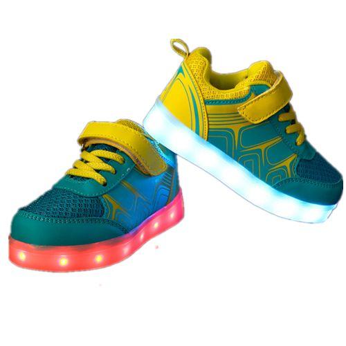 Kinder Farbe Schuhe Mit LED Gelb