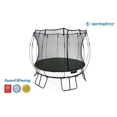 Springfree 10-ft Round Backyard Trampoline with Enclosure