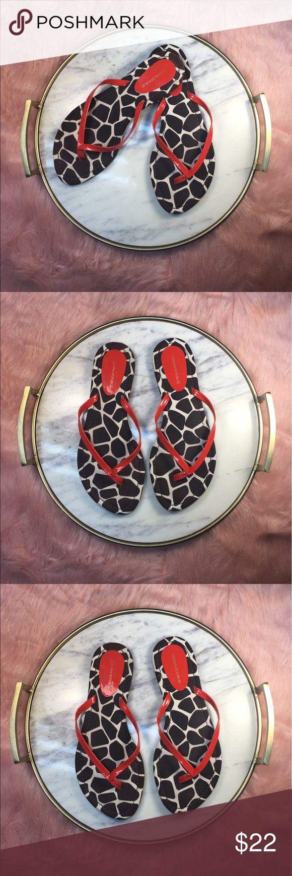 🍌 Banana Republic animal print flip flops 8 1/2🍌 Near perfect condition. No box. Super cute! Banana Republic Shoes Sandals