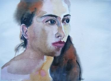 "Saatchi Art Artist Fotini Hamidieli; Painting, ""girl from Chios"" #art"