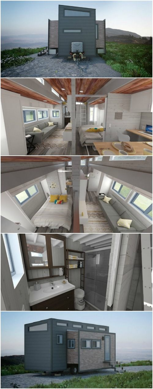 Push a Button and This Innovative Tiny House Almost Doubles in Size! - A lot of people who are interested in tiny homes like the idea of downsizing and customizing a smaller home environment, but aren't quite comfortable with the idea of living in a really tiny space. After all, there is a fine line between cozy and cramped. Some people stay in a tiny home for a night (perhaps at a tiny hotel) and end up wondering if the tiny house lifestyle is really right for them. They don't know how…