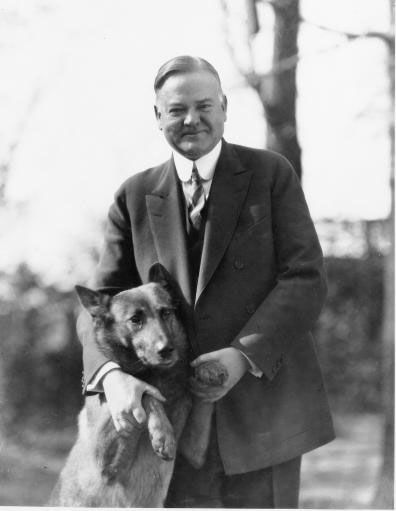 Herbert C. Hoover (1874-1964)  31st president of the United States.  Hoover served as president from 1929 until 1933 during the first years of the Great Depression. Although Hoover tried to help the economy, much of America thought that he wasn't doing enough. In 1932 he lost his re-election bid to Franklin D. Roosevelt.