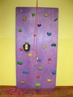 Ścianka wspinaczkowa 240 x 120 z uprzężą i liną asekuracyjną