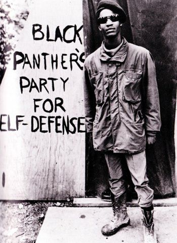 black panthers party...it wasnt about rising against society, it was more about standing ground and protecting our own.