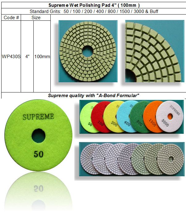 "Supreme Wet Polishing Pad Supreme quality made of brand new ""A-Bond Formula"". RM Tech Korea (StoneTools Korea®) email: sales@stonetools.co.kr  www.stonetools.co.kr http://stonetools.gobizkorea.com"