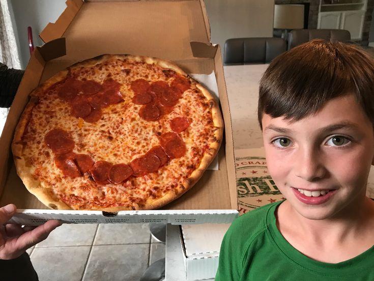 We couldnu0027t just have regular pizza we had emoji pizza!  sc 1 st  Pinterest & 11 best Emoji Party :: Moms Know All images on Pinterest | Emoji ...