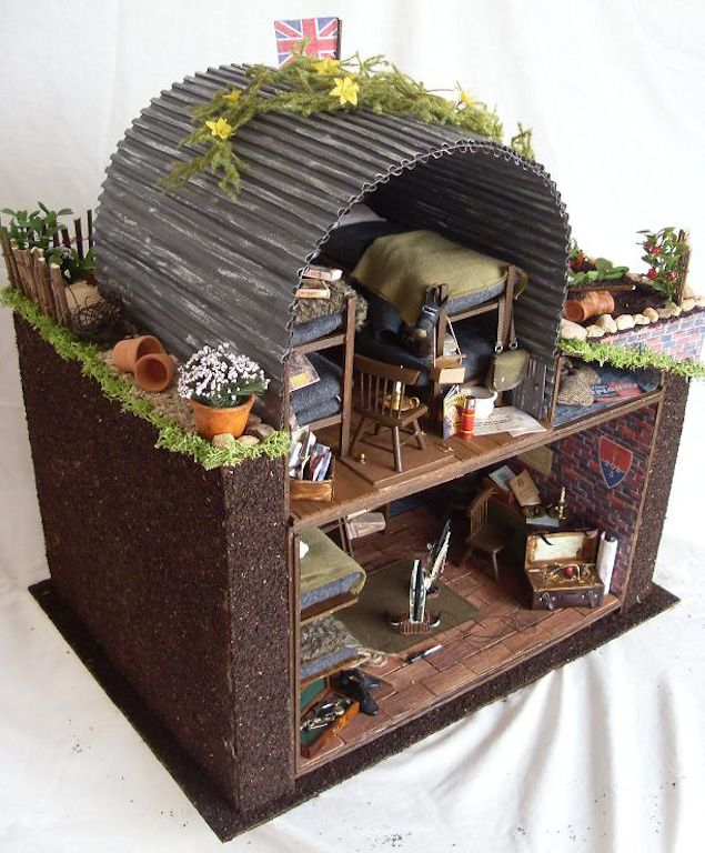 My Spring Fling 2009 entry is a WWII English Anderson (bomb) shelter in a suburban garden with a British Resistance Operational Base hidden underneath.The V...