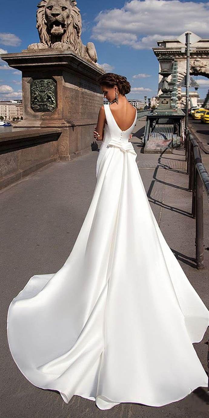 25 Of The Most Beautiful Wedding Dresses On Pinterest Mila Nova Wedding Dress Satin Mermaid Wedding Dress Wedding Dress Inspiration [ 1380 x 690 Pixel ]