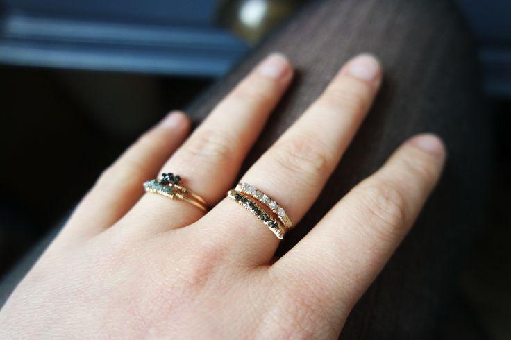 Assortiments précieux Bagues de diamants bruts faites à la main en France - Les Désinvoltes