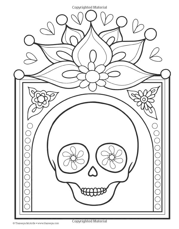 Day Of The Dead Coloring Book Thaneeya McArdle 9781574219616 AmazonSmile Books