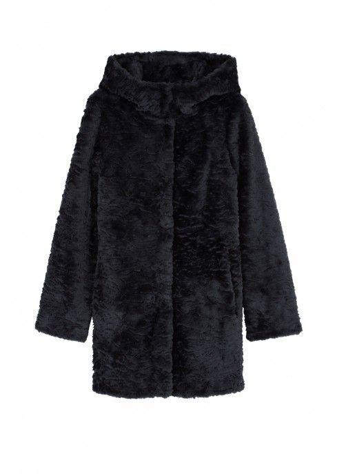 4d071c5ee08d Manteau à capuche en fausse fourrure en 2019