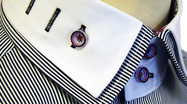 Double Collar Shirt - The Double Collar Shirt has been around for a while, however the get more bold with different colours and patterns. We pick a few.