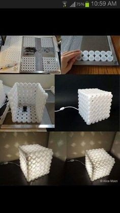 Caja de lámpara con taparroscas
