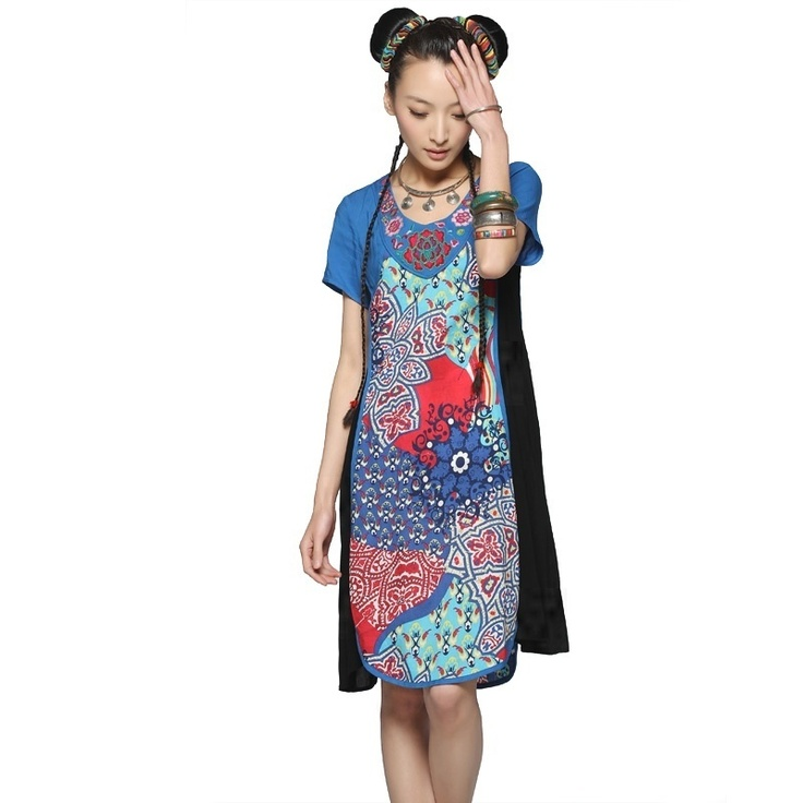 #Swanmarks Liebo New 2012 Collar Embroidery Lycra Cotton Dress