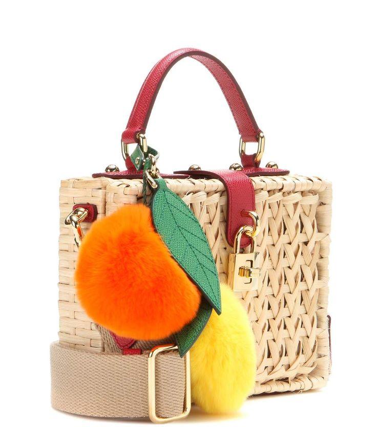 Dolce Box multicoloured fur-trimmed shoulder bag