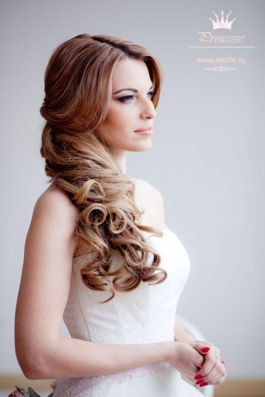 hair wedding long to side hairdos | wedding hairstyles for long hair to the sideWedding hairstyles with ...