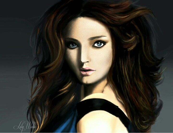 First attemp to paint Miranda Kerr using brush tool in Photoshop #digitalpainting #Photoshop #Mirandakerr