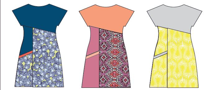 • Colour Blocking • Pattern Mixing • Tonal Textures • These are few of my favourite things! ( Tra la la…) My latest sewing pattern, theAsymmetric A-line Dress, is the PERFECT style for all three of these design options. You can colour-block it in fabulousbrights, OR you can work it up in similar tones of…