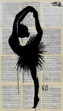 """L""""artiste de cette oeuvre est Loui Jover, le sujet représenté est une silouhette feminine qui est sur demi-pointe. La technique utilisé est le dessin ou la peinture. Les couleurs sont le noir, le beige et le gris. J'ai ressentie de la tristesse car les fille qui font du ballet sont surtout fait pour démontré une histoire souvent triste. J'ai choisi cela parce que j'adore la danse et j'aime la fassont dont il on représenté."""