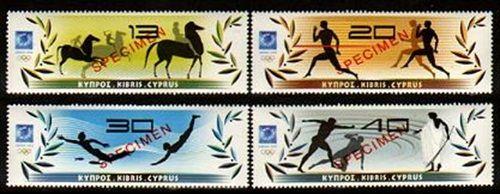 Cyprus Stamps - Sc.# 1021-24 - Athens 2004 Olympics Specimen Ovpt.