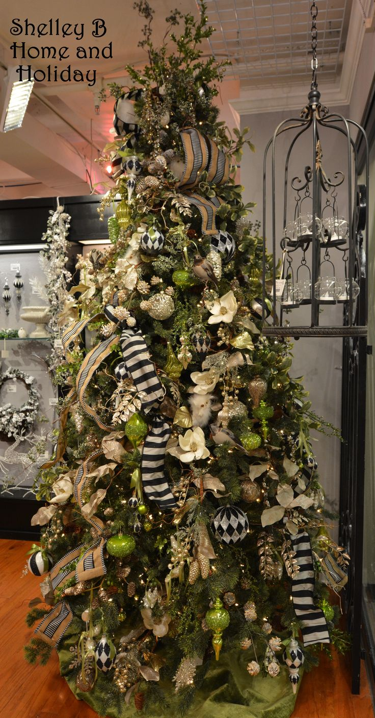 Some Of The Best Black And White Harlequin And Striped Christmas Ornaments  Can Be Found In