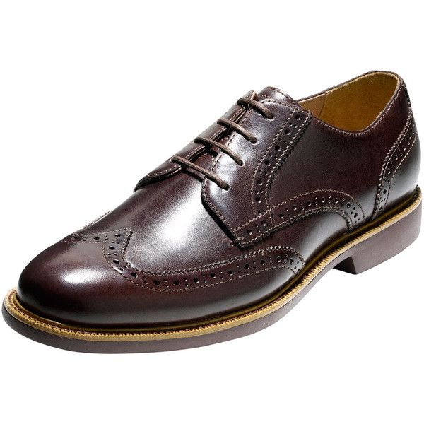 Cole Haan Great Jones Grand.OS Leather Wing-Tip Oxford (380 BRL) ❤ liked on Polyvore featuring men's fashion, men's shoes, men's oxfords, chestnut, mens wingtip shoes, mens wing tip shoes, mens oxford shoes, mens lightweight running shoes and mens oxford wingtip shoes