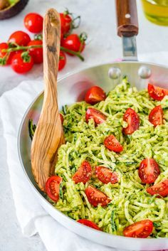 Try Zoodles + Fresh Avocado Sauce for a Creative Clean Eating Pasta Dinner! - Clean Food Crush