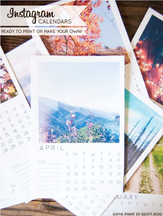 DIY Customizable Instagram Calendar Tutorial with Free Printable Template