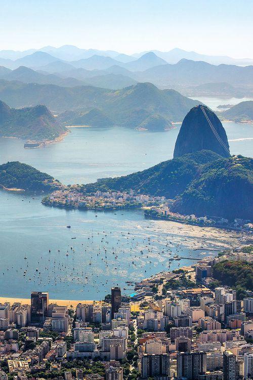 Overlooking Rio de Janeiro, Brazil.