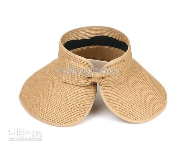 Wholesale lady UV wide-brimmed straw hat beach hat large brimmed hat empty top hat sun hat, $6.54-10.03/Piece | DHgate