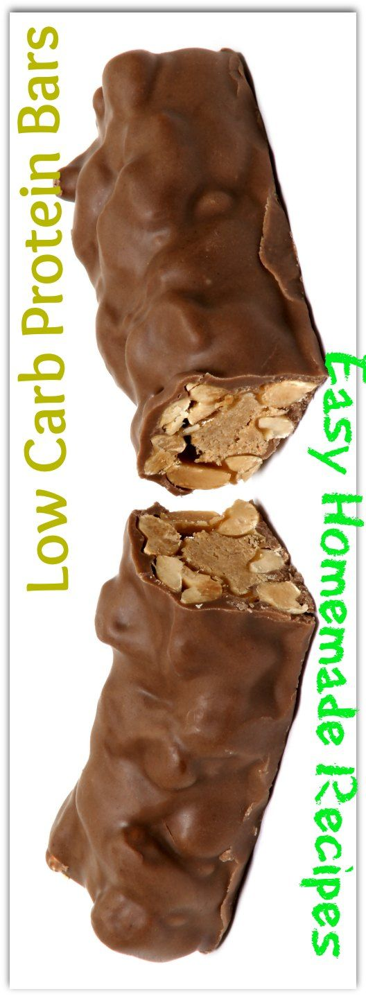 Easy Homemade Low Carb Protein Bars Recipe #carbswitch Please Repin 5 Top Shared Recipes 50K-200K+ Shares !