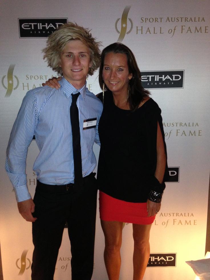 Layne Beachley and Brad Shaw