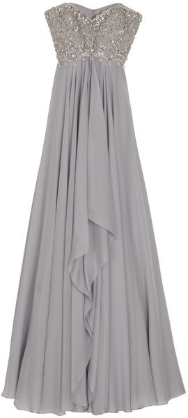 Marchesa Strapless Embroidered Bodice Gown