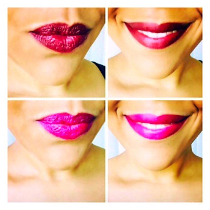 SWL lip swatches! Model wearing Superwoman & Fuchsia Fire!