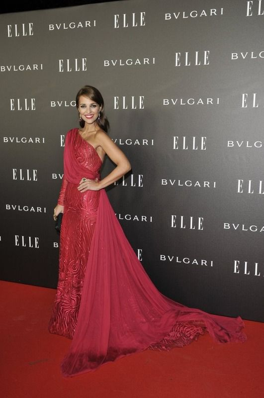 Paula Echevarría wearing Zuhair Murad Haute Couture at the Elle Awards.