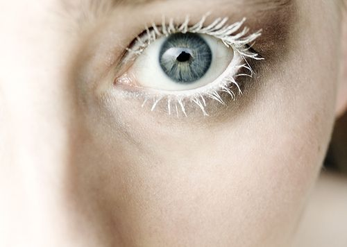 White mascara - I can't yet tell if this is cool or creepy (or both)