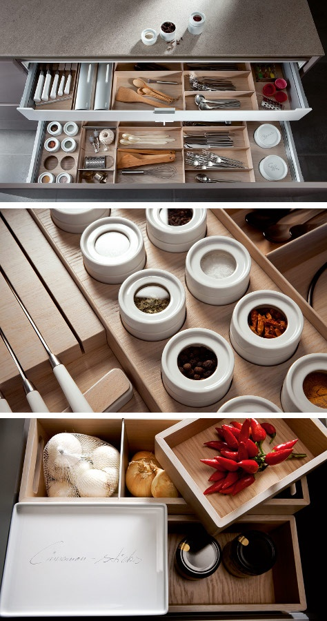 Order in your drawers thanks to SieMatic #kitchen