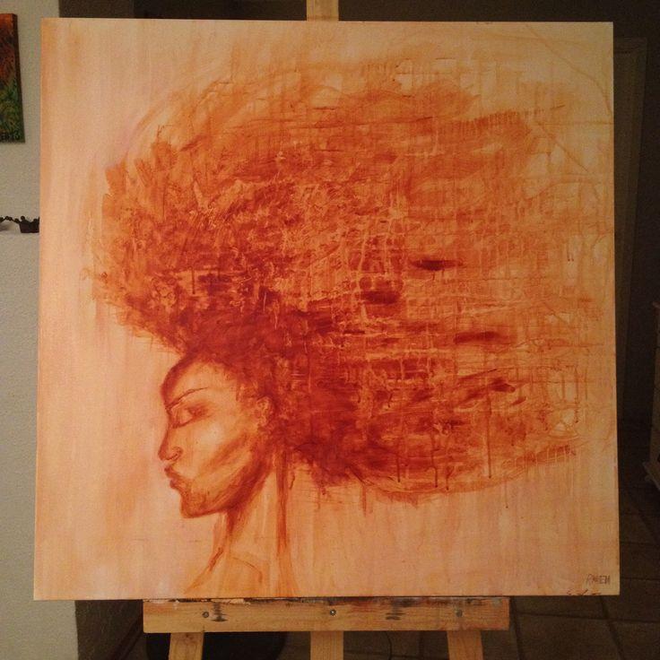 #afro #acrylic