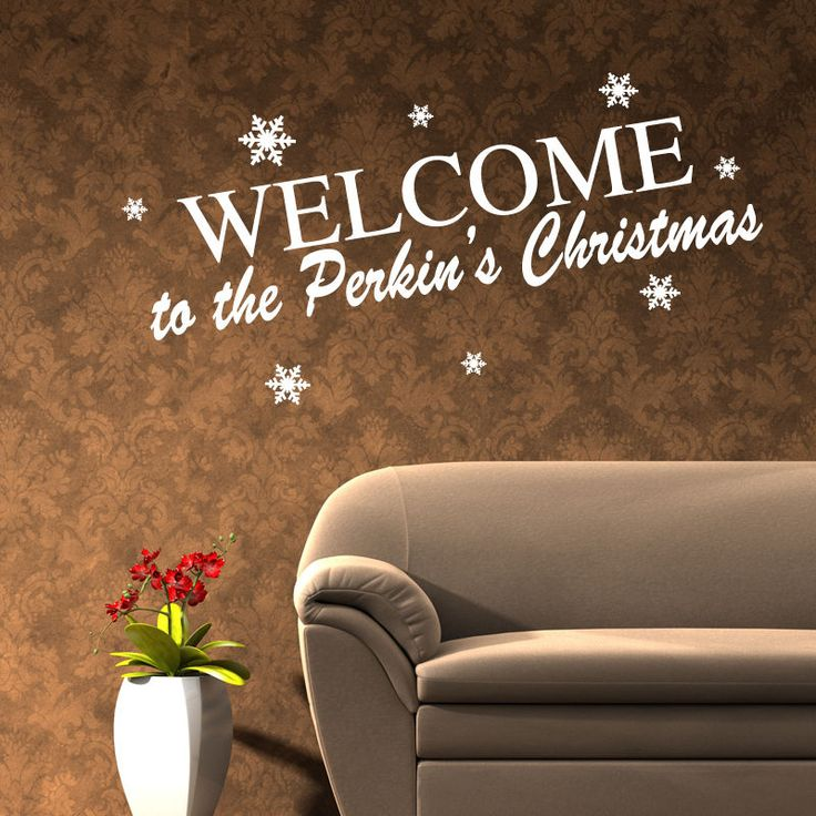 Personalised christmas wall quote sticker decal decoration art xm13